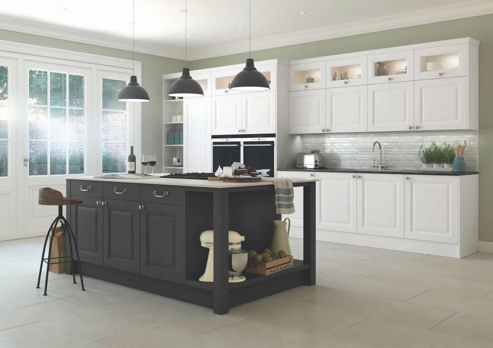 Contrasting Mereway Kitchen