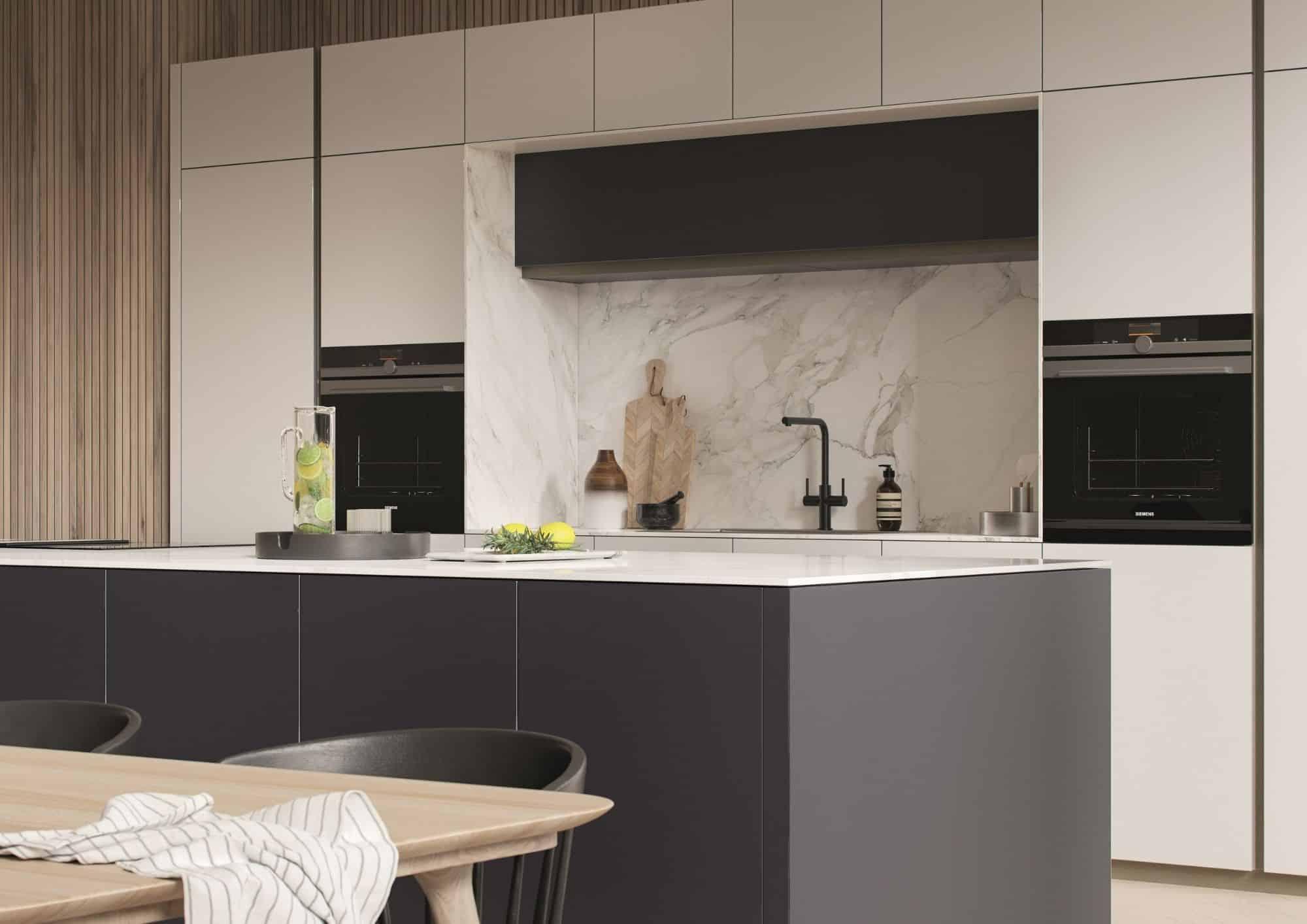 Dark Blue Modern Kitchen