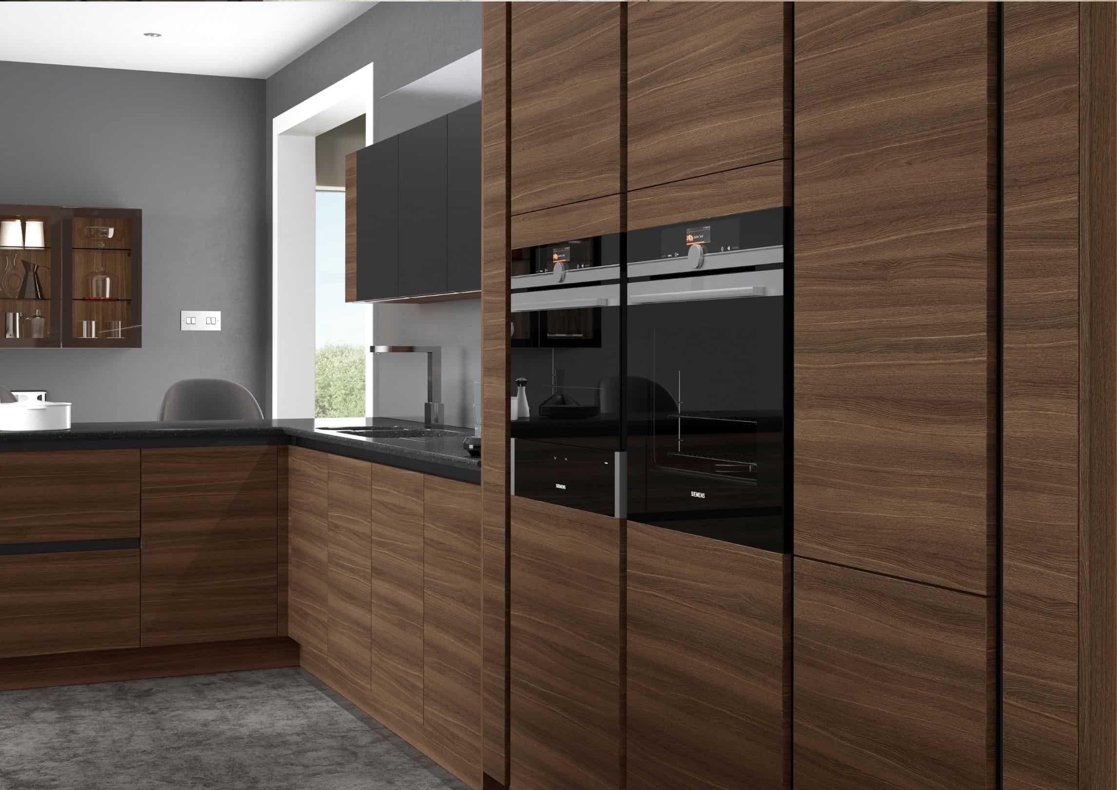 Dark Oak Contemporary Kitchen