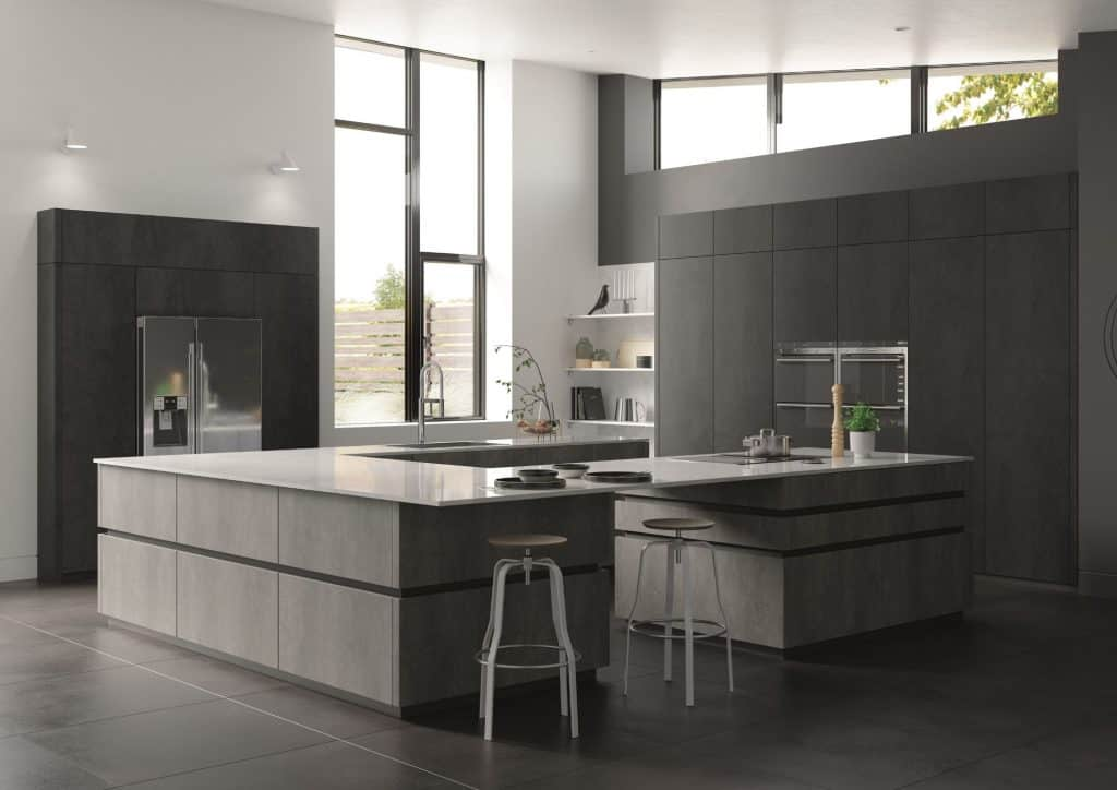 Handleless Concrete Kitchen