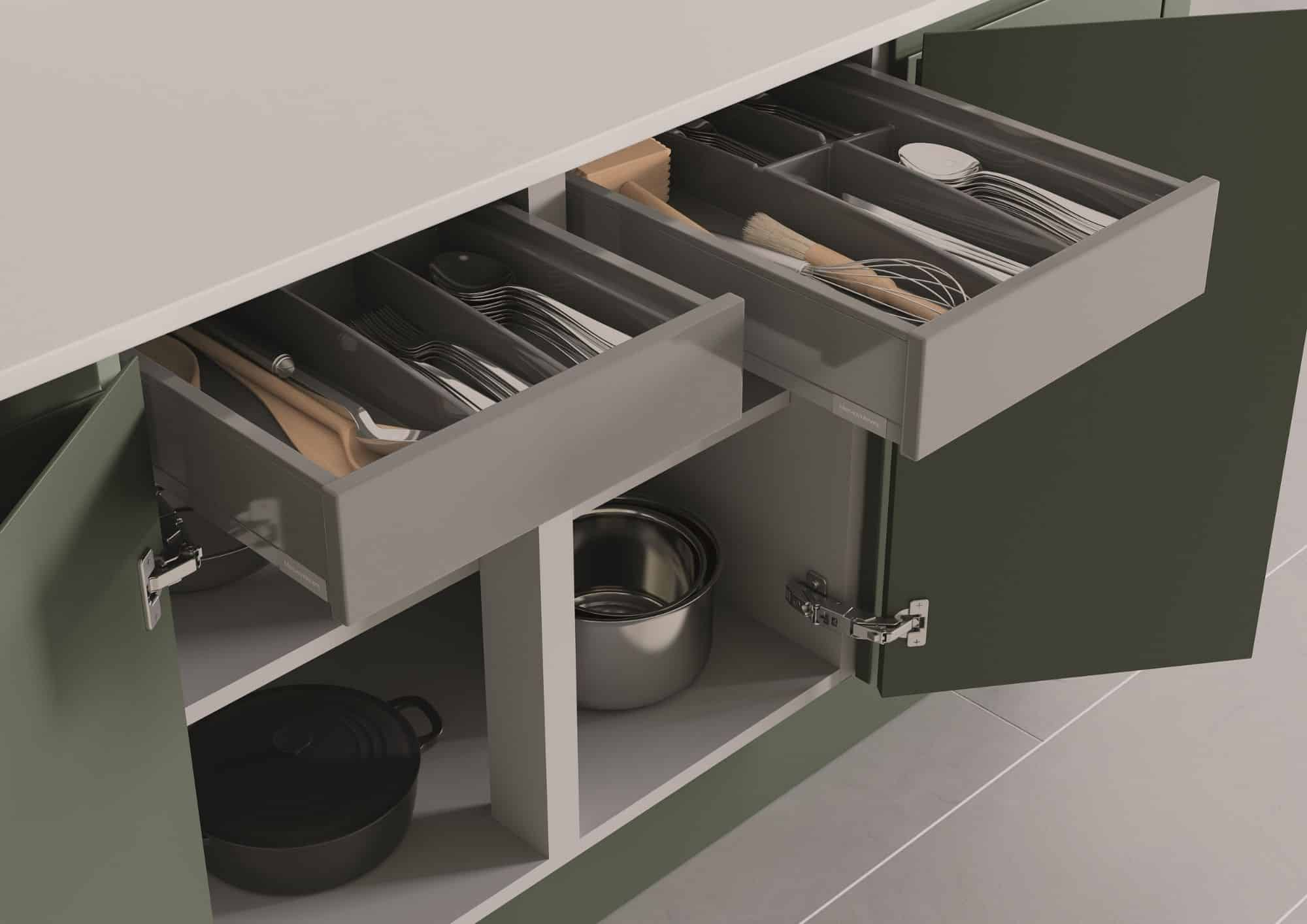 Kitchen Cupboard Open