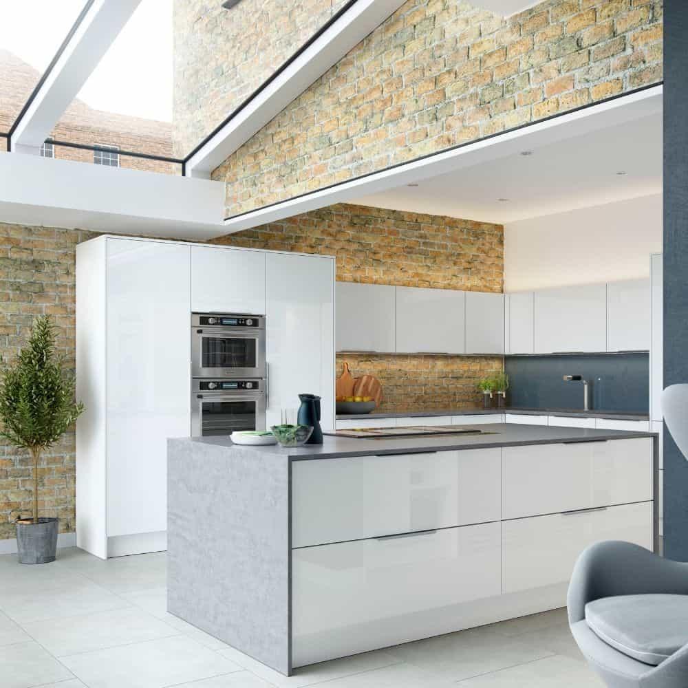 Modern Kitchen Airy White