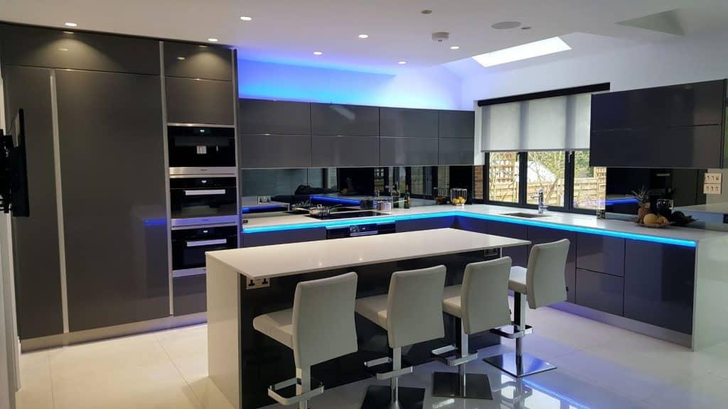 Modern Kitchen With Rail Lighting