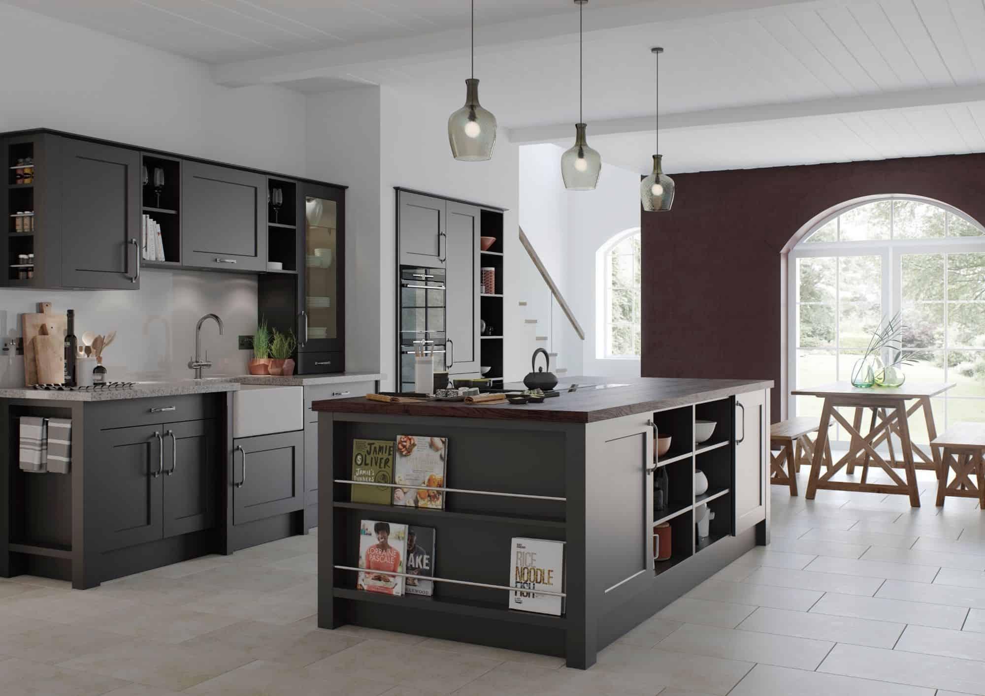 Modern Dark Mereway Kitchen