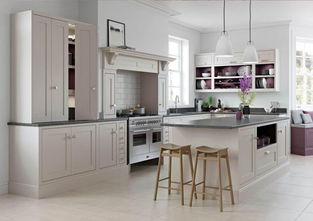 open plan classic kitchen