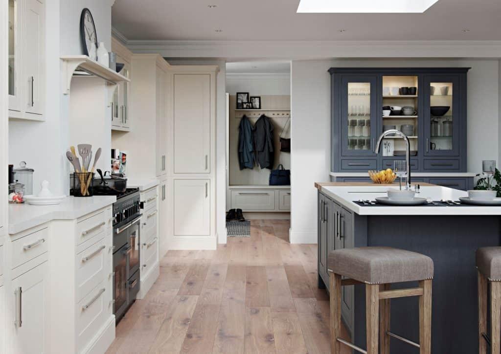 Traditional Kitchen Blue Loughton