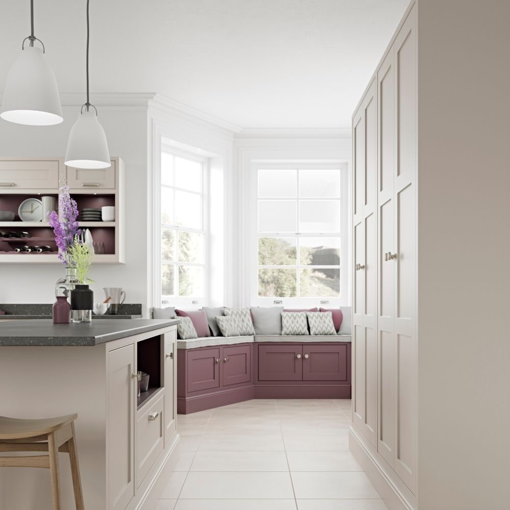 Traditional Kitchen Seating Area