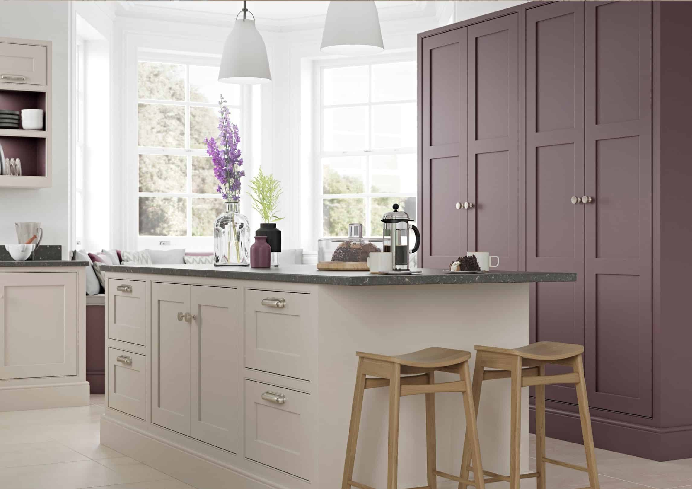two coloured kitchen