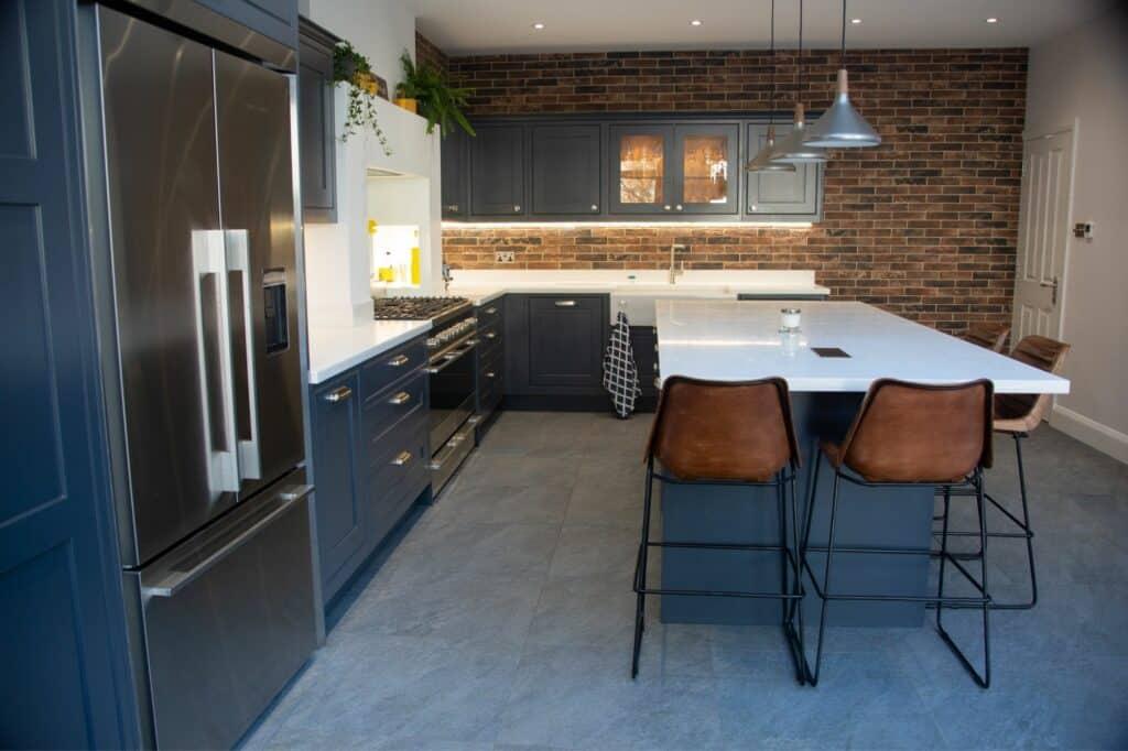 Bare Brick Wall Kitchen