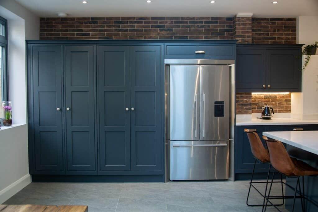 Dark Blue Kitchen Units
