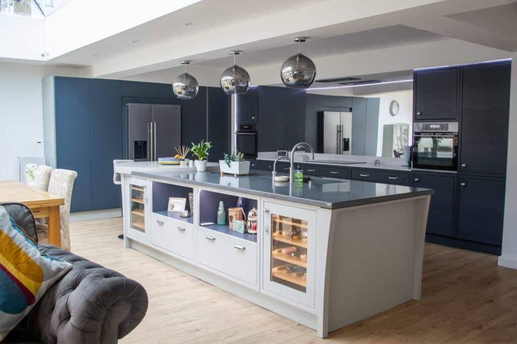 Grey In Frame Kitchen Island