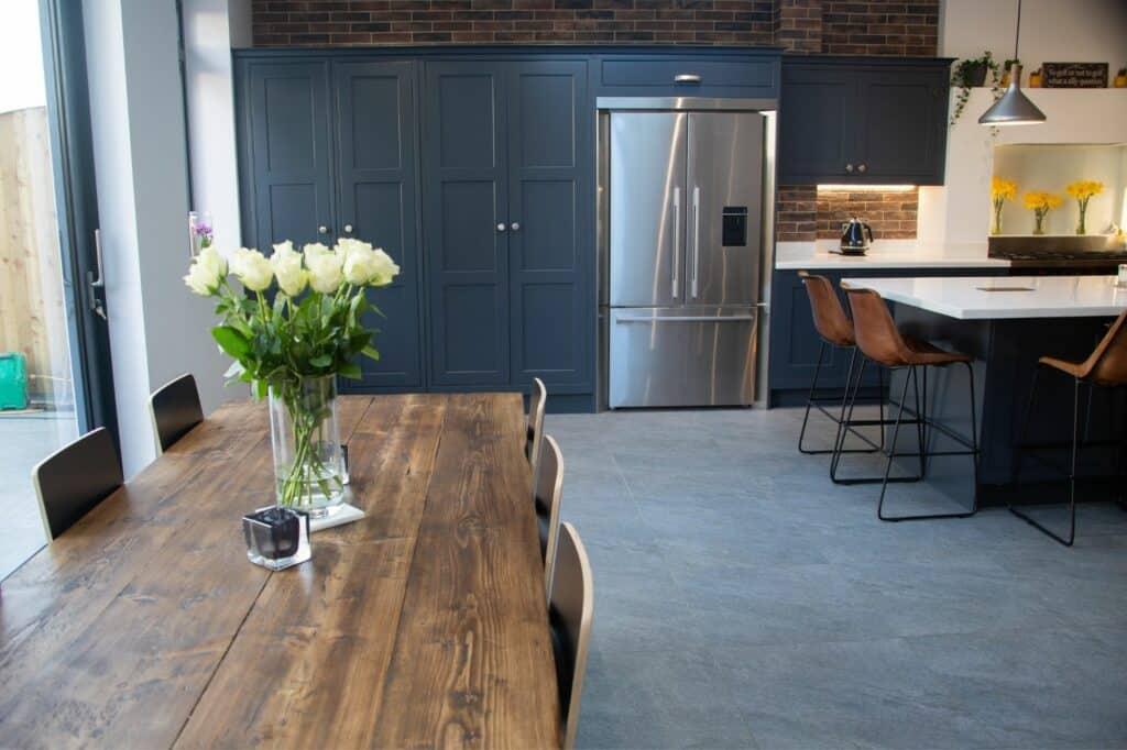 Traditional Modern Kitchen Blue