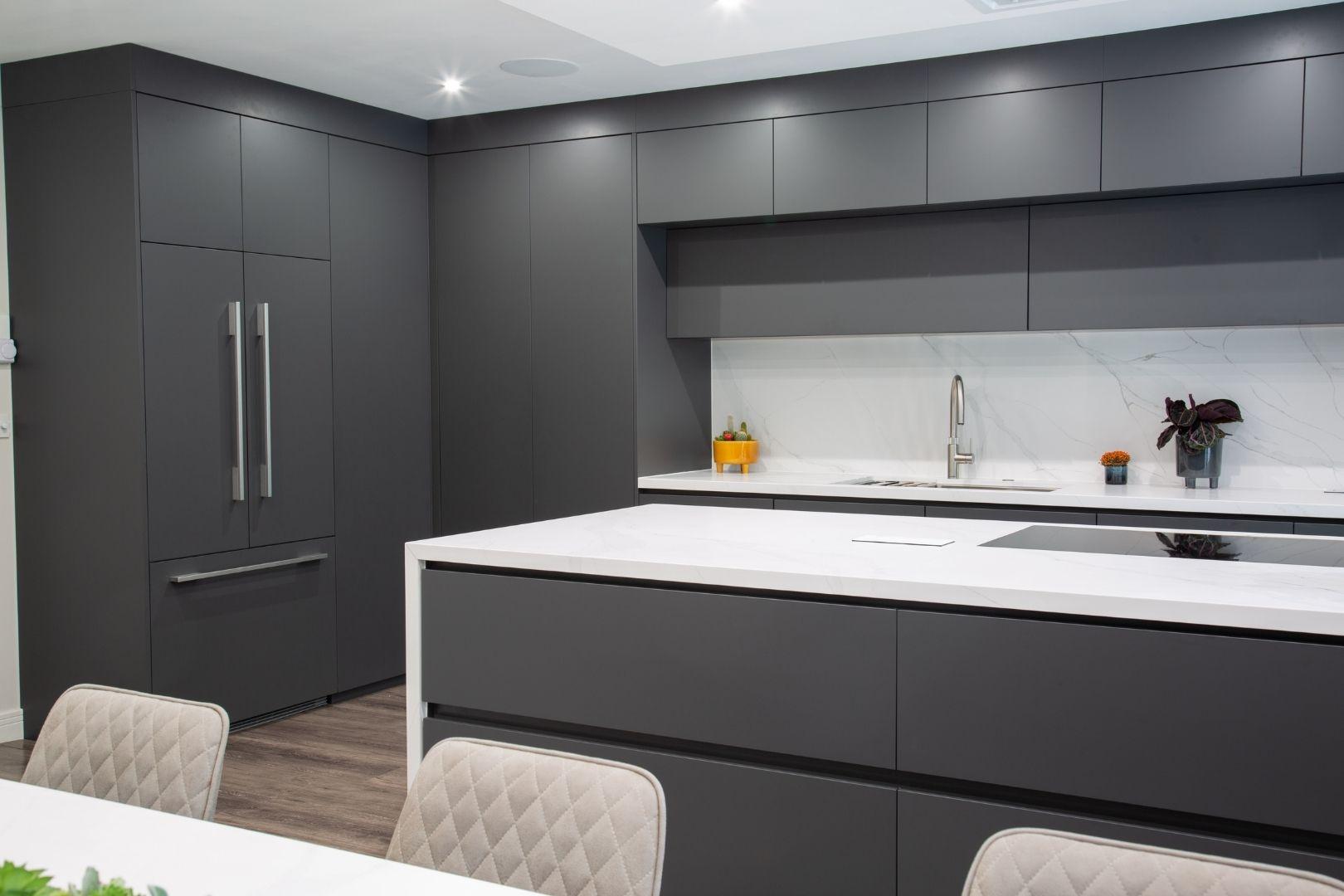 Glossy Handleless Kitchen