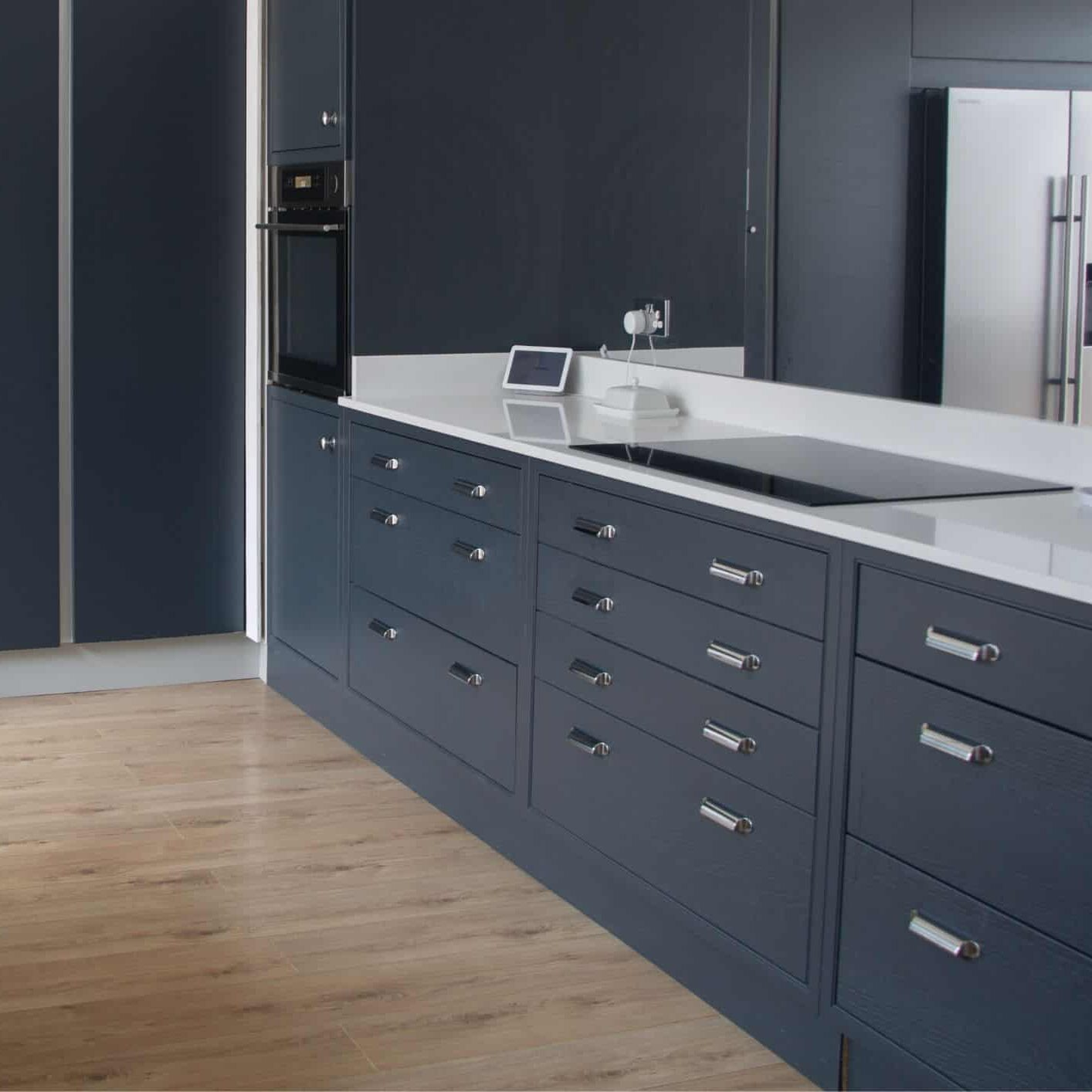 Dark Blue In-Frame Kitchen